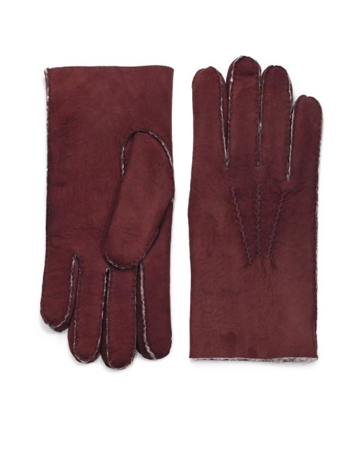 Saks Fifth Avenue | Brown Shearling Gloves for Men | Lyst