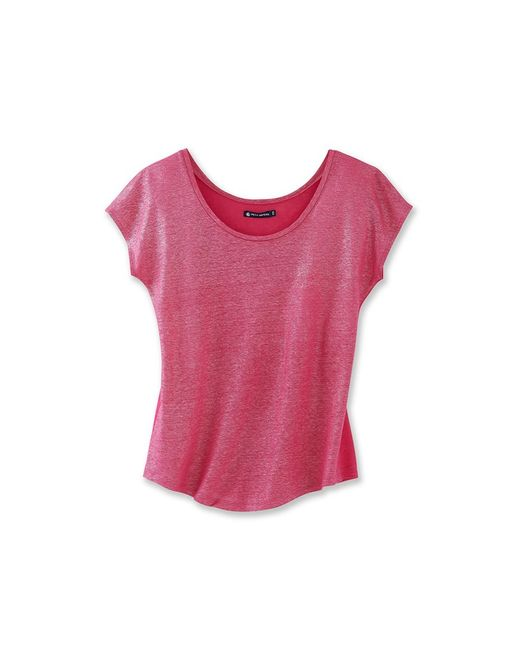 Petit Bateau | Pink Women's Lacquered Linen Tee | Lyst