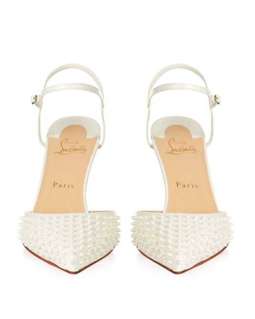 usa replica shoes - Christian louboutin Baiea 85mm Spike-embellished Pumps in White | Lyst
