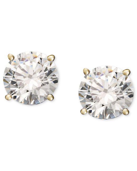 Macy's | Metallic Diamond Stud Earrings (1/4 Ct. T.w.) In 14k Gold Or White Gold. | Lyst