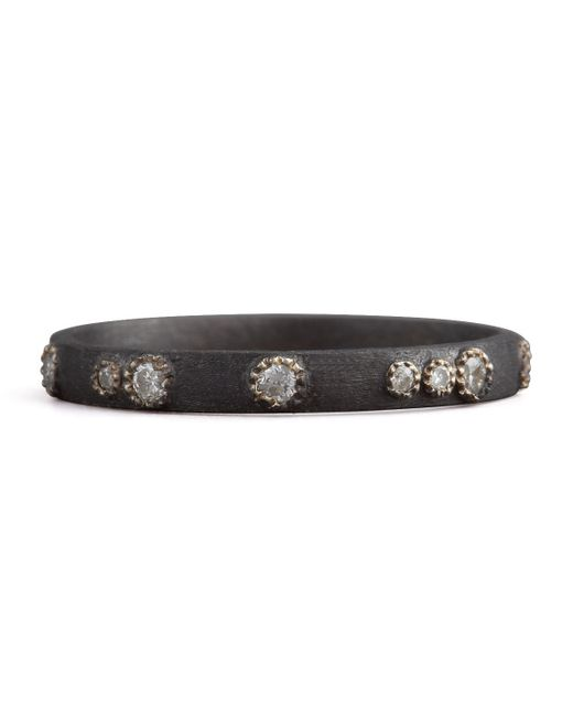 Armenta | Black Scattered Diamond Ring | Lyst