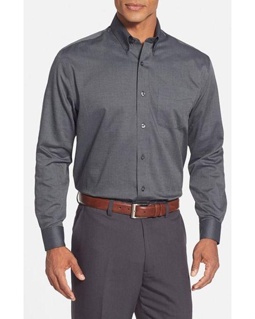 Cutter & Buck | Black 'nailshead' Classic Fit Sport Shirt for Men | Lyst