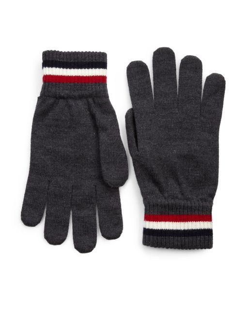 Moncler | Gray Wool Gloves for Men | Lyst