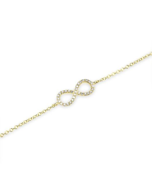 Anne Sisteron | Metallic 14kt Yellow Gold Diamond Small Infinity Bracelet | Lyst