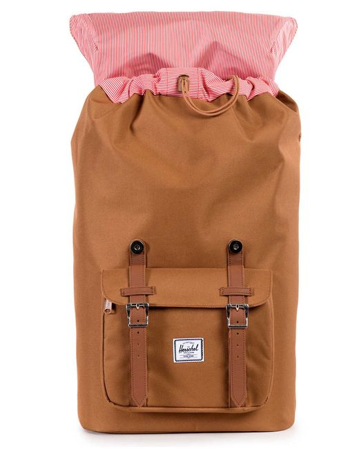 herschel supply co camel little america backpack 25 l in beige camel lyst. Black Bedroom Furniture Sets. Home Design Ideas