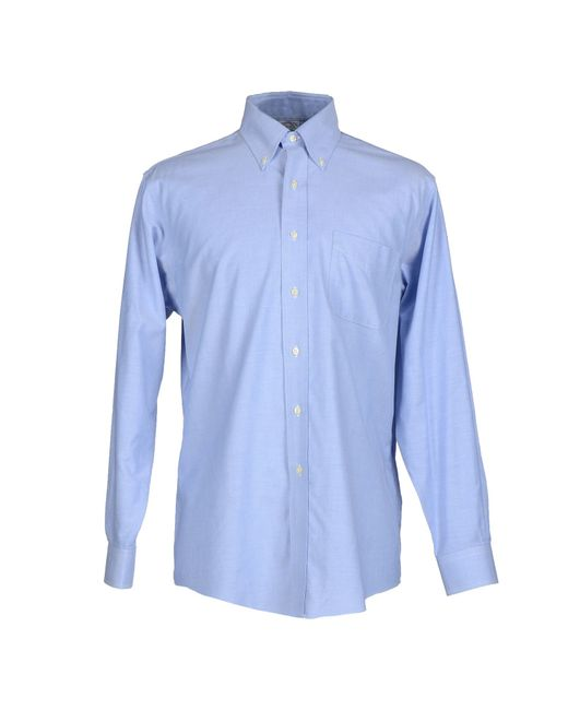 Brooks brothers shirt in blue for men sky blue save 21 Brooks brothers shirt size guide