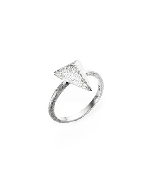 Ona Chan Jewelry | Metallic Triangle Ring Silver | Lyst