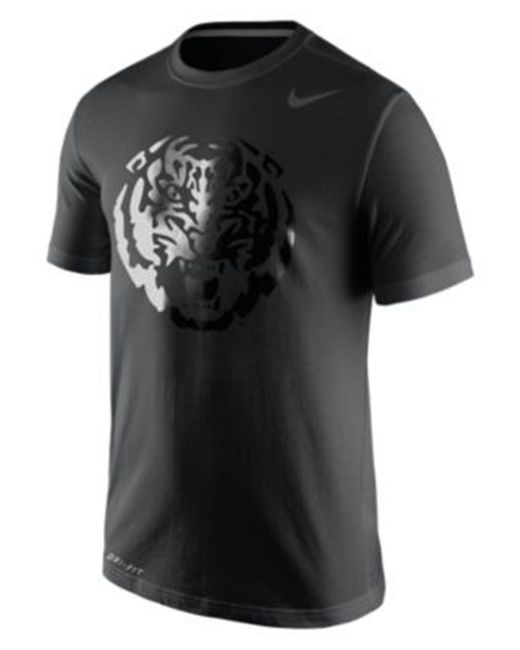 Nike men 39 s lsu tigers basketball graphic t shirt in black for I love basketball nike shirt
