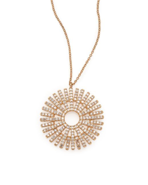 Astley Clarke | Metallic Rising Sun Diamond & 14k Yellow Gold Pendant Necklace | Lyst