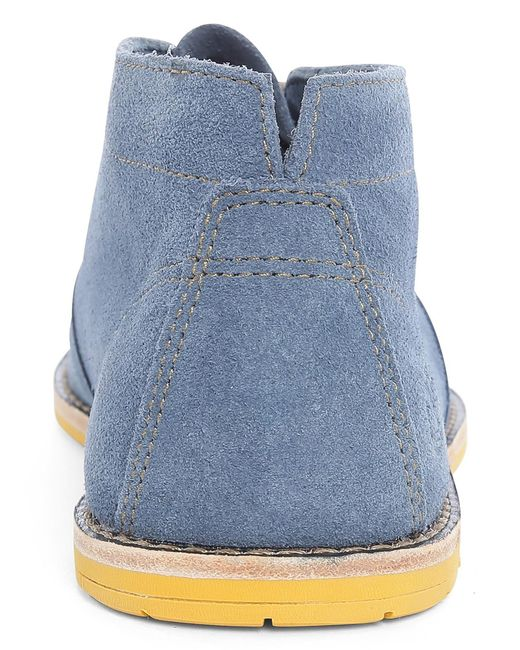 timberland blue revenia suede chukka with contrasting sole