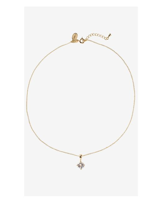 Express | Metallic 2-carat Cubic Zirconia Necklace | Lyst