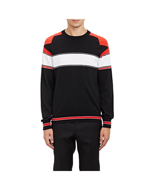 Givenchy | Black Striped Crewneck Sweater for Men | Lyst