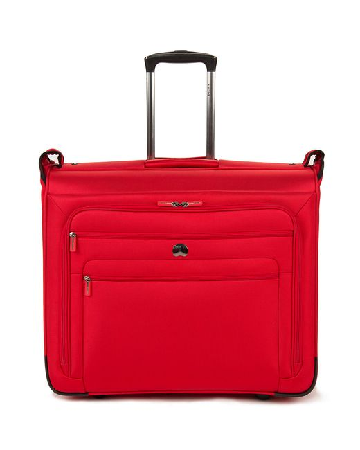 "Delsey | Red 19"" Helium Sky 2.0 Helium Trolley Garment Bag 