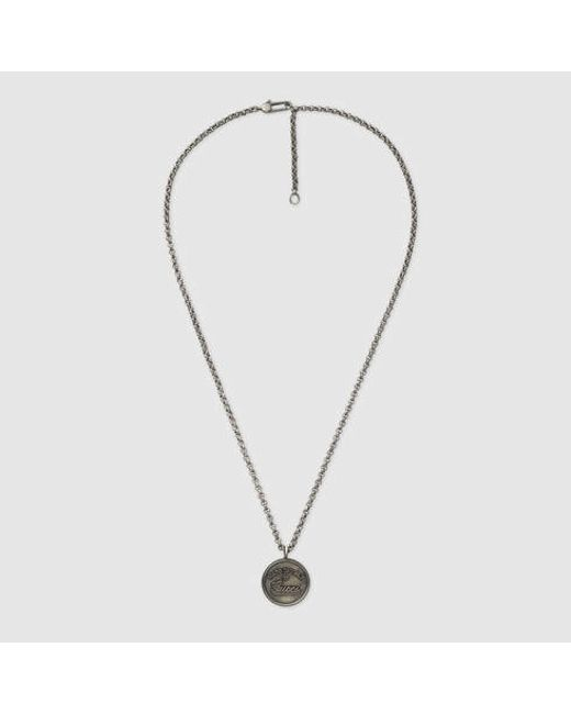 Gucci | Metallic Necklace With Pendant | Lyst