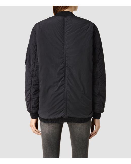 AllSaints   Black Papin Leather Biker Jacket   Lyst