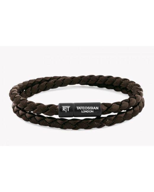 Tateossian | Brown Woven Bracelet for Men | Lyst