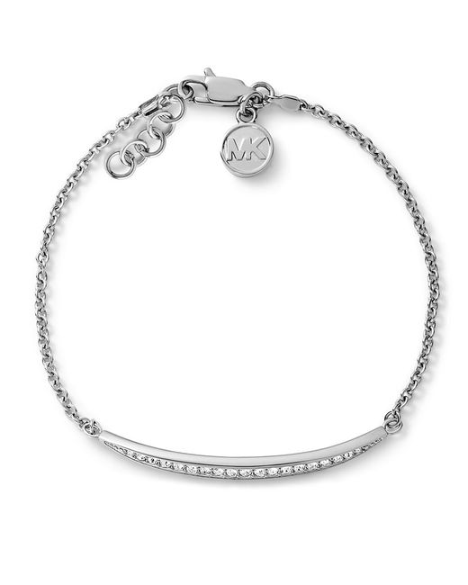 Michael Kors | Metallic Matchstick Line Bracelet Silver Color | Lyst