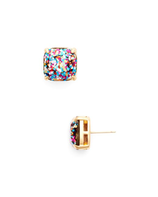 Kate Spade | Multicolor Small Square Glitter Stud Earrings | Lyst