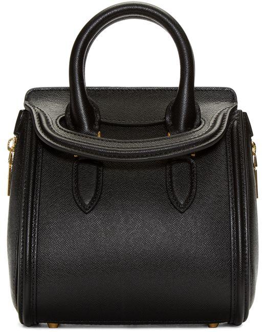 Alexander McQueen   Black Leather Mini Heroine Bag   Lyst