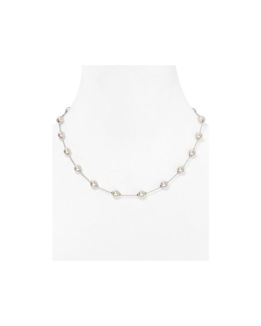 Majorica | White Stationed Simulated Pearl Necklace, 18"