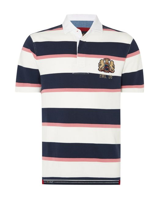 Howick | Natural Malden Stripe Short Sleeve Rugby Shirt for Men | Lyst