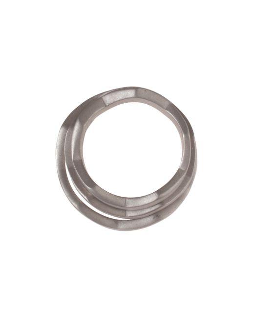 Eddie Borgo | Metallic Zig Zag Matte Ring | Lyst