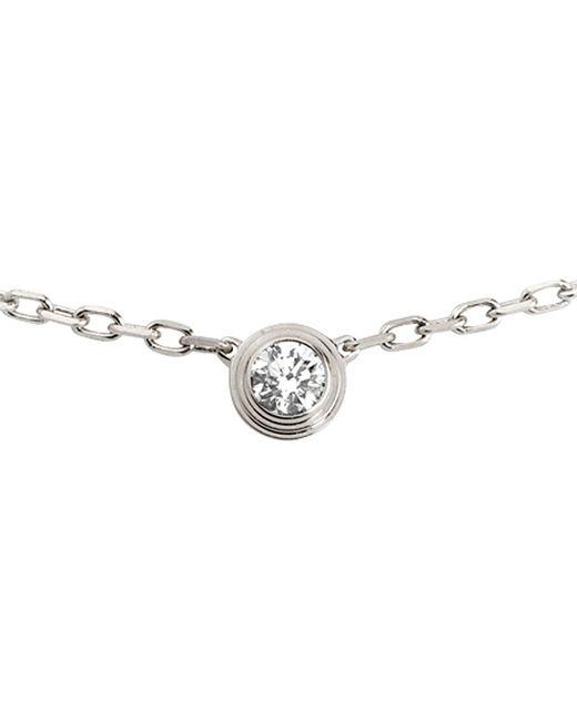Cartier | Diamants Légers De 18ct White-gold And Diamond Necklace | Lyst