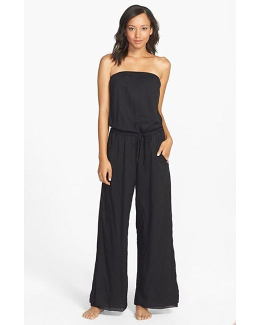 Hard Tail | Black Strapless Jumpsuit | Lyst