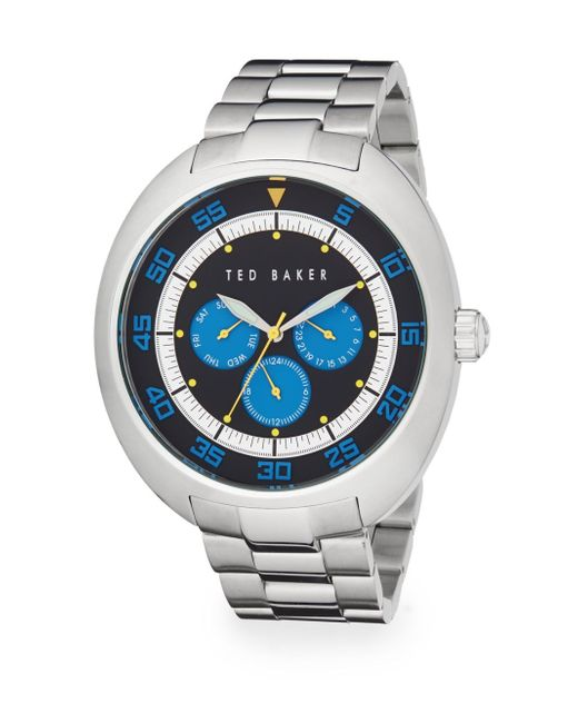 Ted Baker | Metallic Stainless Steel Chronograph Watch | Lyst