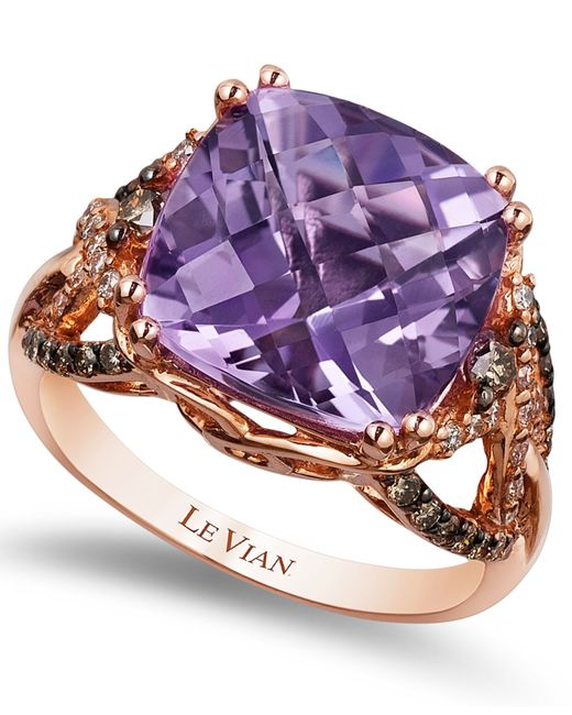 Le Vian | Pink Amethyst (6 Ct. T.w.) And Diamond (1/2 Ct. T.w.) Ring In 14k Rose Gold | Lyst