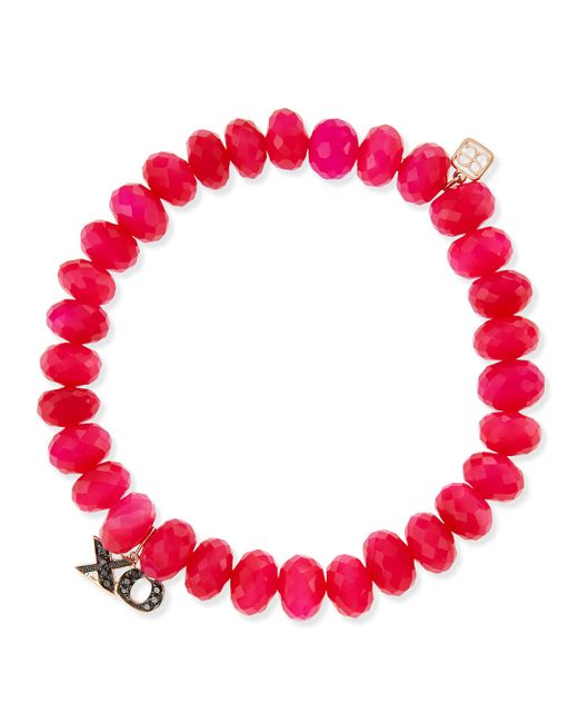 Sydney Evan | Red Bright Coral Bracelet | Lyst