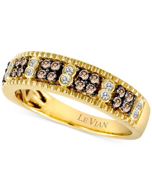 Le Vian | Brown Chocolate Diamond (1/3 Ct. T.w.) And Diamond Accent Band In 14k Gold | Lyst