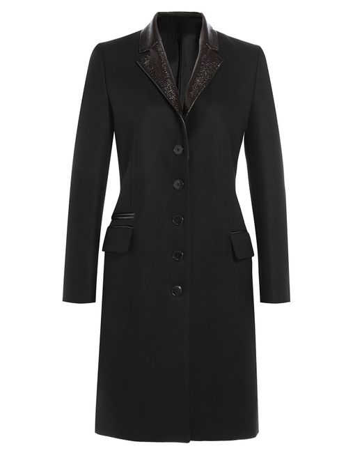 The Kooples | Tailored Wool Evening Coat - Black | Lyst