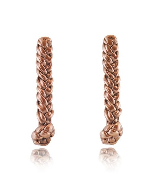 Rachael Ruddick | Pink Plaited Earrings | Lyst
