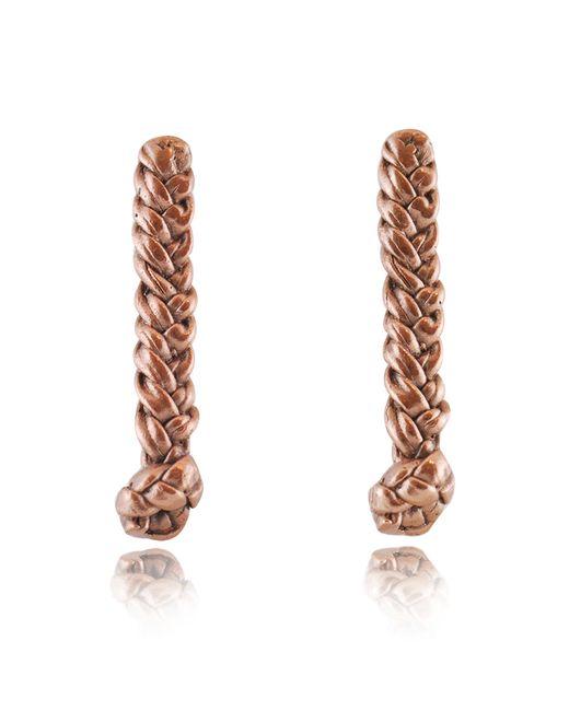 Rachael Ruddick | Pink Plaited Earrings | Lyst