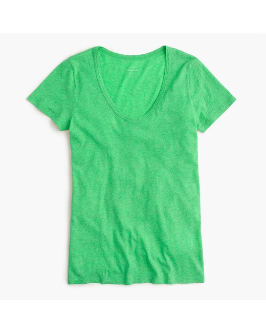 J.Crew   Green Vintage Cotton Scoopneck T-shirt   Lyst