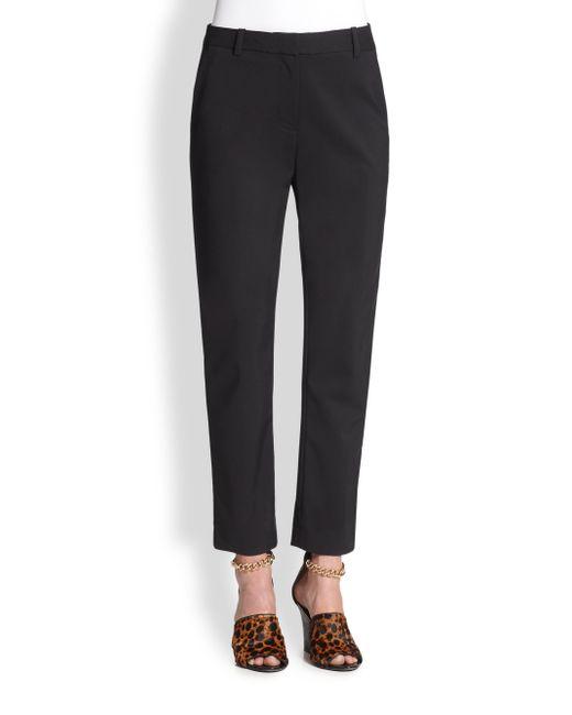 3.1 Phillip Lim | Black Core Cropped Pencil Trousers | Lyst