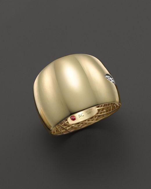 Roberto Coin | Metallic 18k Yellow And White Gold Diamond Golden Gate Ring | Lyst