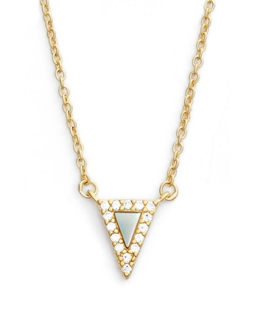 Freida Rothman | Metallic 'visionary' Small Triangle Pendant Necklace | Lyst