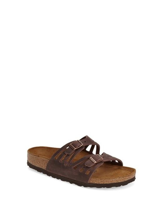 Birkenstock 'granada' Soft Footbed Oiled Leather Sandal in Brown (HABANA OILED LEATHER) | Lyst