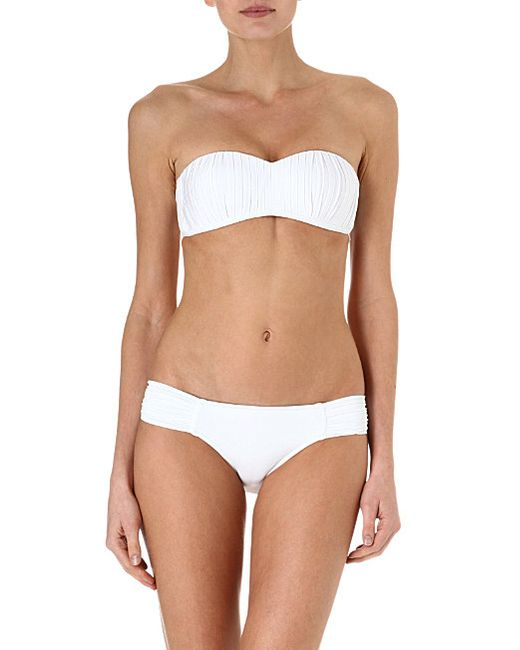 Seafolly | White Goddess Kiara Bustier Bikini Top | Lyst