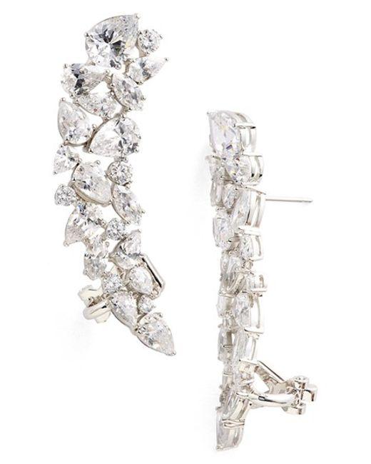 Nadri | Metallic Cubic Zirconia Stud Ear Crawlers | Lyst
