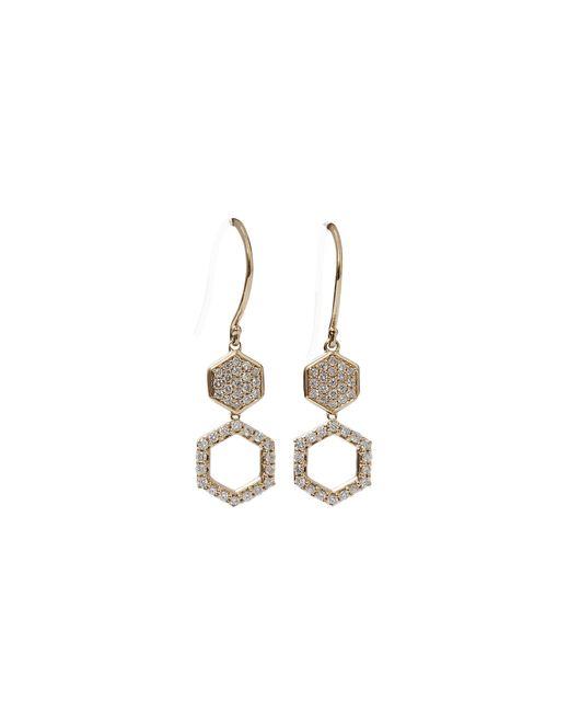 Dana Rebecca   Metallic Jennifer Yamina Diamond Pave Drop Earrings   Lyst