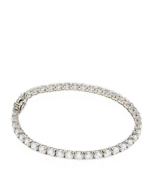 Carat* | Metallic 13.25ct Princess Tennis Bracelet | Lyst