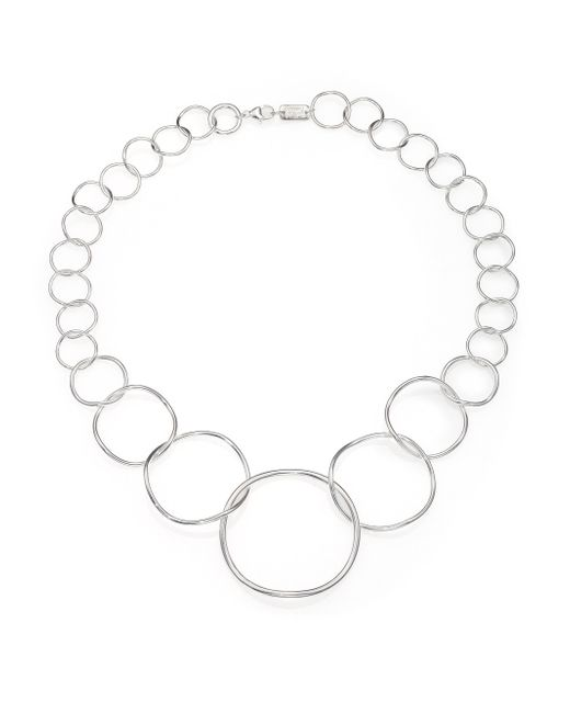 Ippolita | Metallic Glamazon Sterling Silvery Wavy Circle Necklace | Lyst
