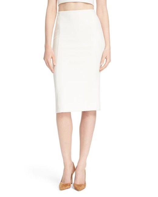 jarrett pencil skirt in white white
