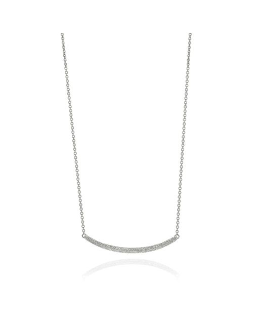 Monica Vinader | Metallic Skinny Curve Necklace | Lyst
