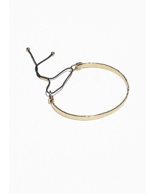 & Other Stories | Metallic Pull Tie Bracelet | Lyst