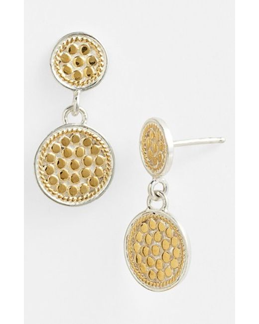 Anna Beck | Metallic 'gili' Double Disc Earrings | Lyst