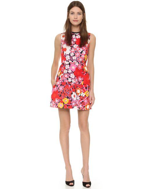 Victoria, Victoria Beckham | Structured Floral Dress | Lyst